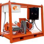 limpiador de alta presión para astillero naval / montado sobre patines / motor eléctrico / ATEX