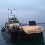 barco profesional embarcación de recuperación de hidrocarburos / catamarán / intraborda