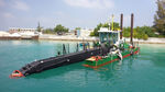 barco profesional draga de corte y succión / catamarán / intraborda / diésel