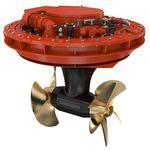 propulsor acimutal / para buque / eléctrico / hélice contrarrotatoria