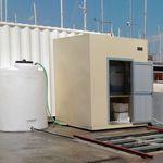 sistema de tratamiento aguas residuales / de agua dulce / del agua de sentina / para buque