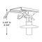 pie para asiento piloto ajustable / para barco / de metal