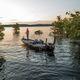 bass boat fueraborda / con doble consola / de pesca deportiva / de aluminio