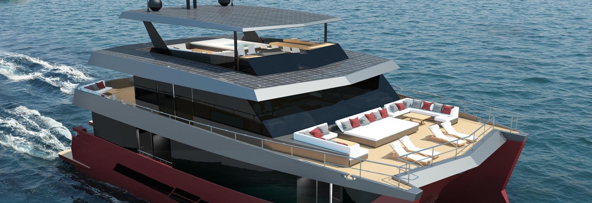 Spaceline 100 Hybrid, un nuevo concepto de catamarán de lujo a motor