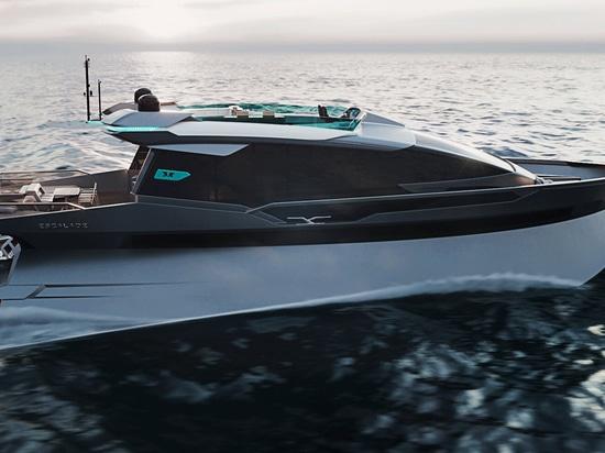Dentro de la Escalada Trimonoran Yacht Concept de 25 metros