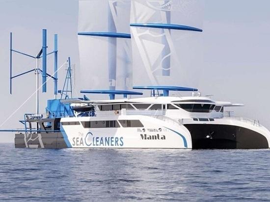 'Manta': un velero gigante al ataque de la contaminación plástica oceánica