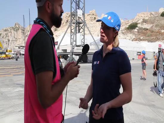 Nautic Expo charla con Marie Riou del equipo de Francia