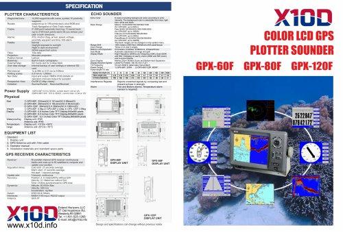 GPS-PLOTTER GPX-60F/GPX-80F/GPX-120F