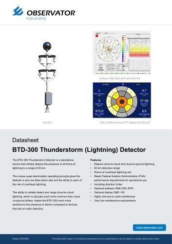 BTD-300 Thunderstorm (Lightning) Detector