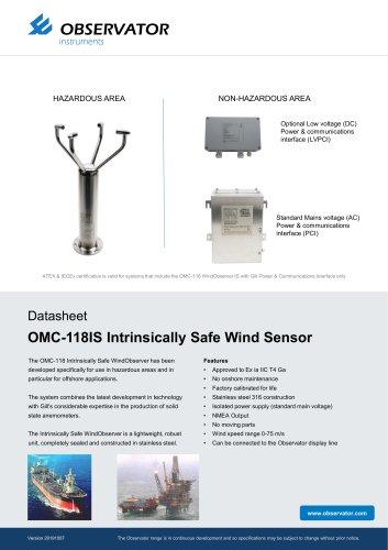 OMC-118IS Intrinsically Safe Wind Sensor