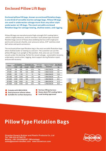 Enclosed Pillow Type Flotation Bags