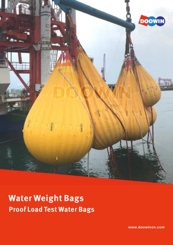 Water Filled Proof Load Test Water Weight Bags