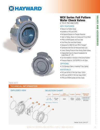 WCV Series Full Pattern Wafer Check Valves