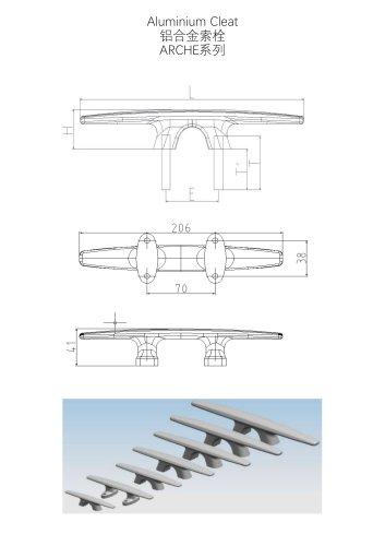 Aluminum cleat - ARCHE serie