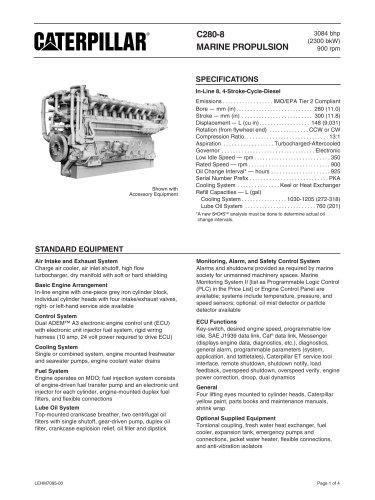 Cat C280-8 Spec Sheets