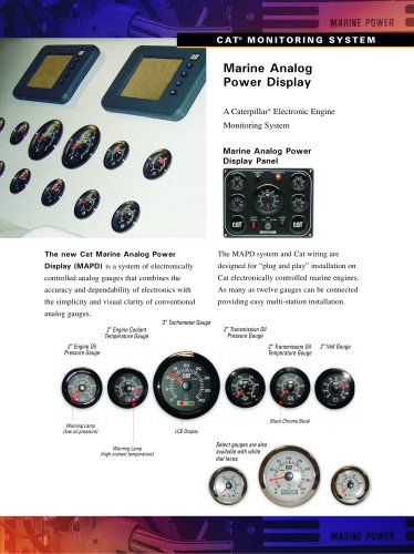 Marine Analog Power Display