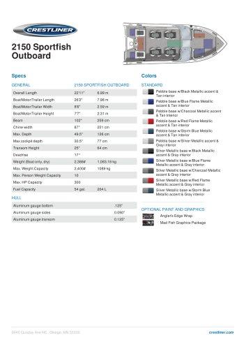 2150 Sportfish Outboard