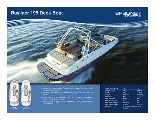 195 Deck Boat