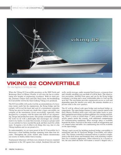 The Viking 82 Convertible