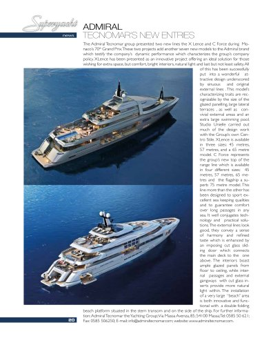 Admiral X Lence and C Force on Superyacht   September 2012
