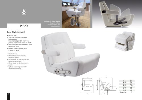 Besenzoni Helm Seat P 220 Freestyle Special