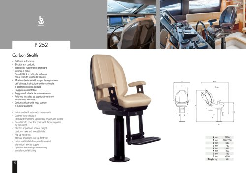 Besenzoni Helm Seat P 252 Carbonfly