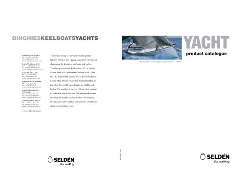 Product Catalogue, YACHT