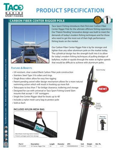 OC-CF Series Carbon Fiber Center Rigger Poles
