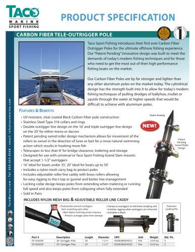 OT-CF Series Carbon Fiber Tele-Outrigger Poles