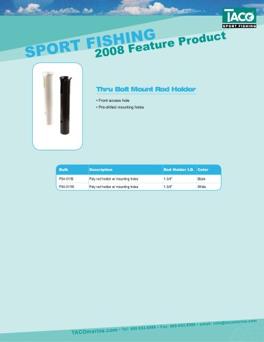 Thru Bolt Mount Rod Holder