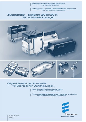 Additional parts catalog 2010/2011