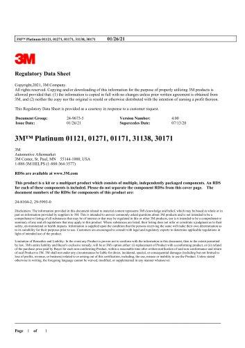 3M™ Platinum 01121, 01271, 01171, 31138, 30171