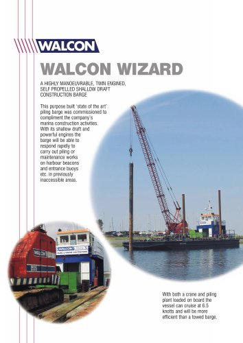 Walcon Wizard : piling barge