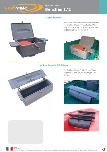 Locker bench 90 Litres