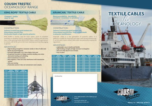 textile cables for oceanology