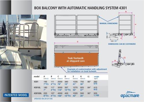 Box balcony model 4301 and 4302