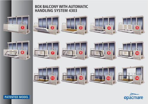 Box balcony model 4303