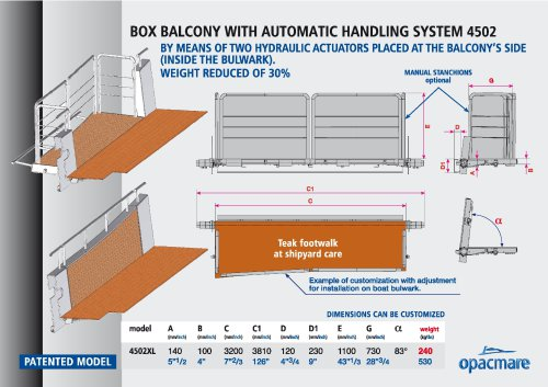 box balcony model 4502