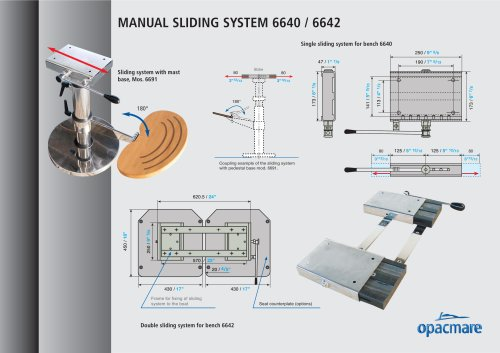 Manual sliding system model 6640 and 6642