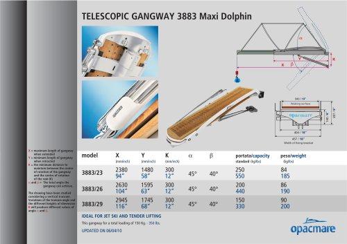 passerelle Maxi Dolphin model 3883