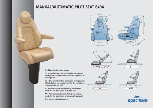 seat model 6494