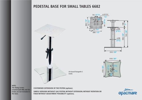 table bases model 6682