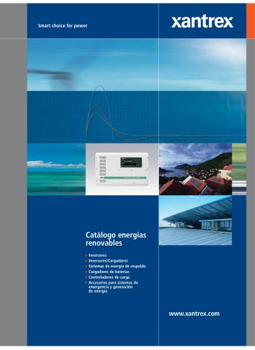 Xantrex Catalogo de Energias Renovables