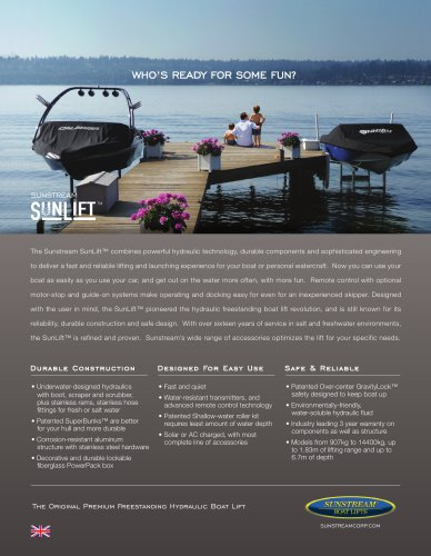 SunLift Metric Sales Sheet