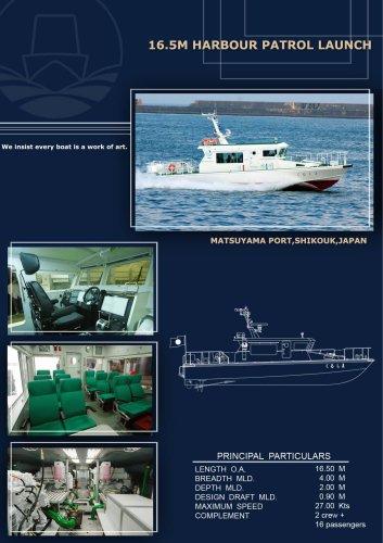 16.5M Harbour patrol launch