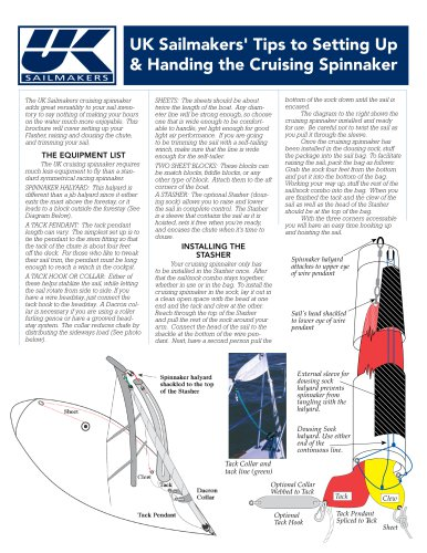 UK Sailmakers Cruising Spinnaker Tips