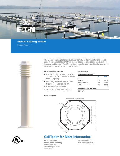 Mariner Lighting Bollard