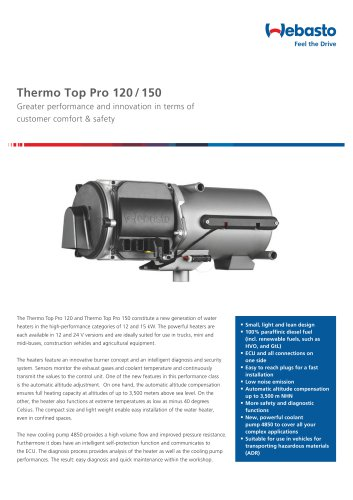 Thermo Top Pro 120 / 150