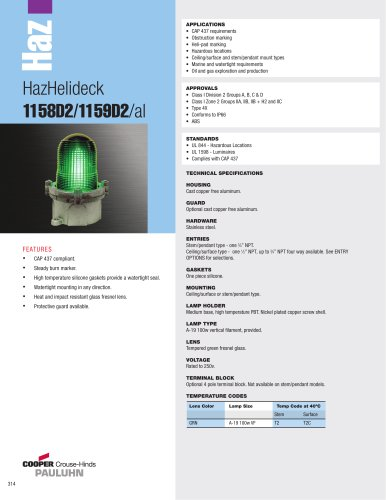 HazHelideck  1158D2/1159D2/al