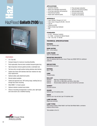 Pauluhn? HazFlood Goliath 2100/ss Floodlights
